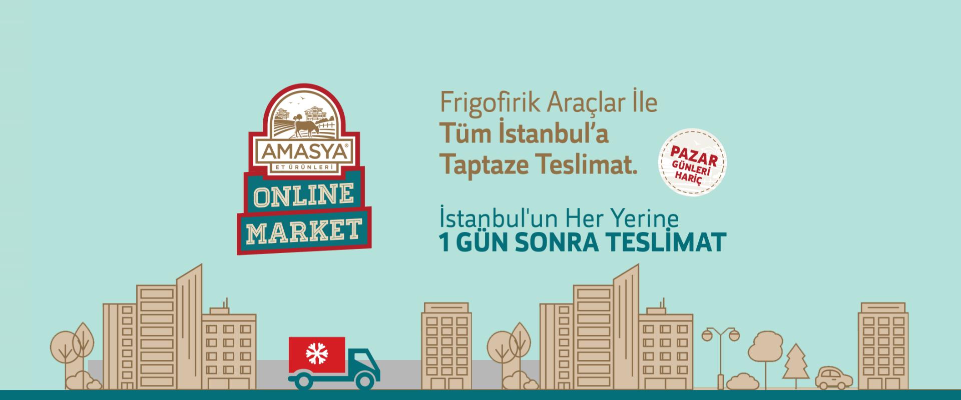 İstanbul'un Her Yerine 1 Gün Sonra Teslimat